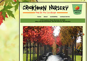 Crookhorn Nursery Trees Landscape Horticultural Website Design