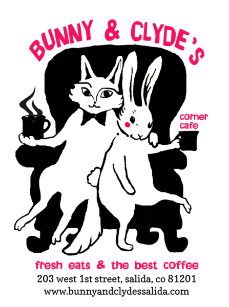 Bunny and Clyde's Corner Cafe Logo